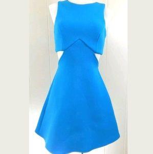ASOS Textured Cutout Scuba Dress